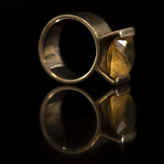 """Citrine Ring"" stock image"