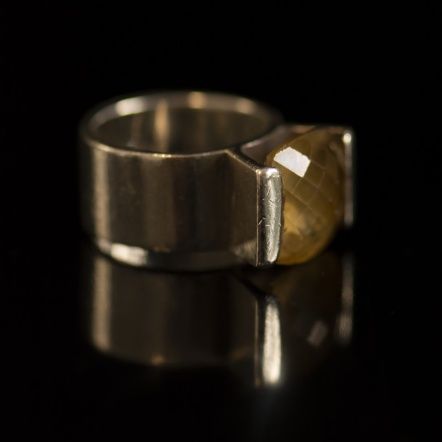 """Citrine Ring - Macro"" stock image"