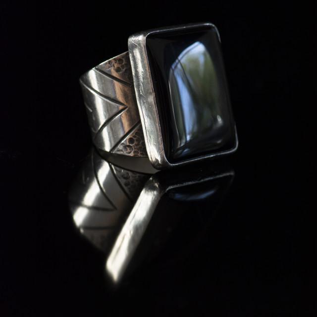 """black gemstone ring"" stock image"