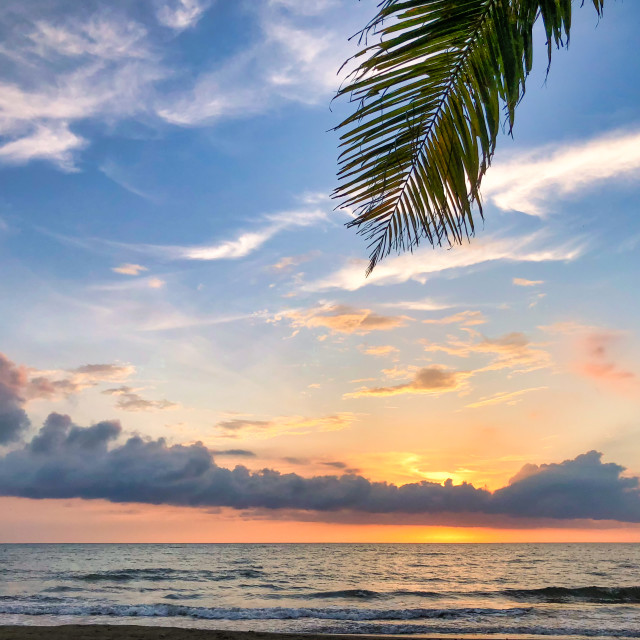 """Idyllic Caribbean Beach Sunset"" stock image"
