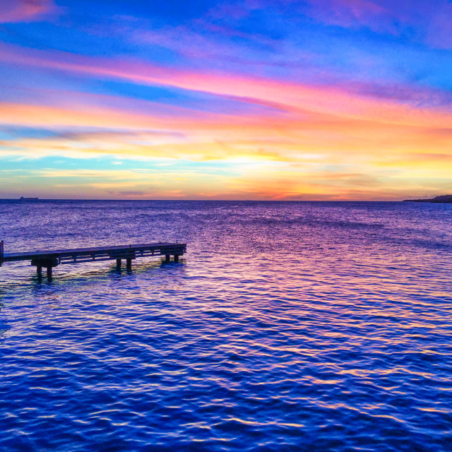 """Dramatic Caribbean Sunset"" stock image"