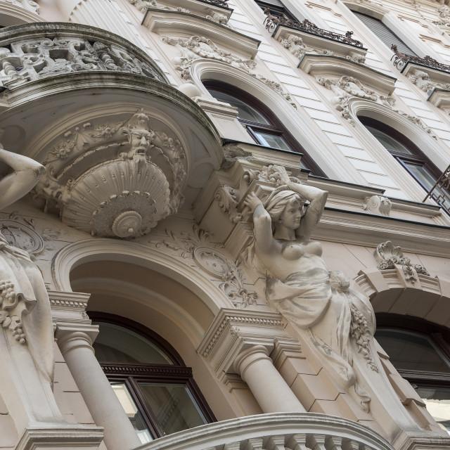 """""""Budapest Street Architecture (I)"""" stock image"""