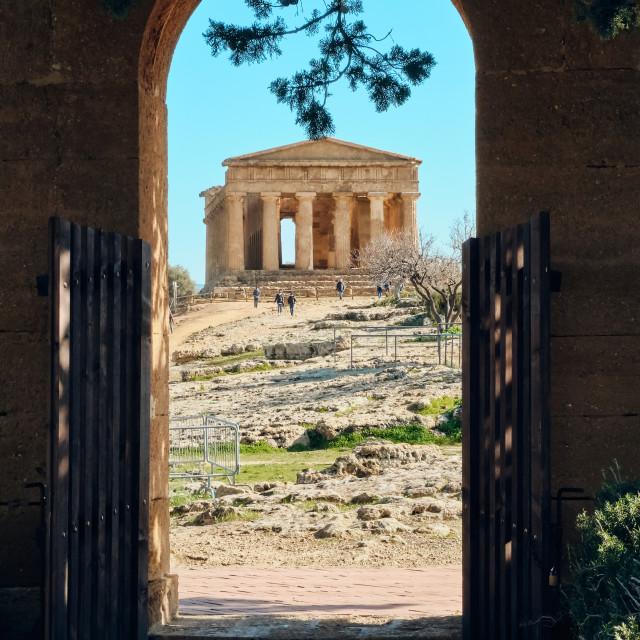 """""""La Porta del Tempio"""" stock image"""
