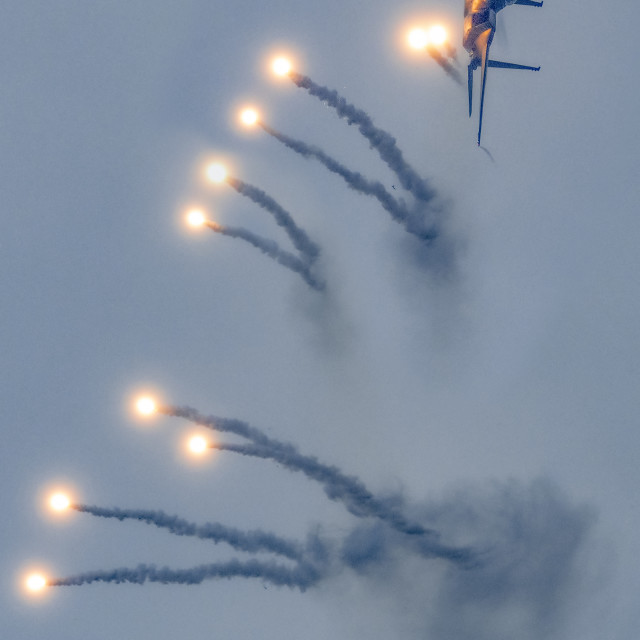 """""""F15SG Flares Release Performance 03"""" stock image"""