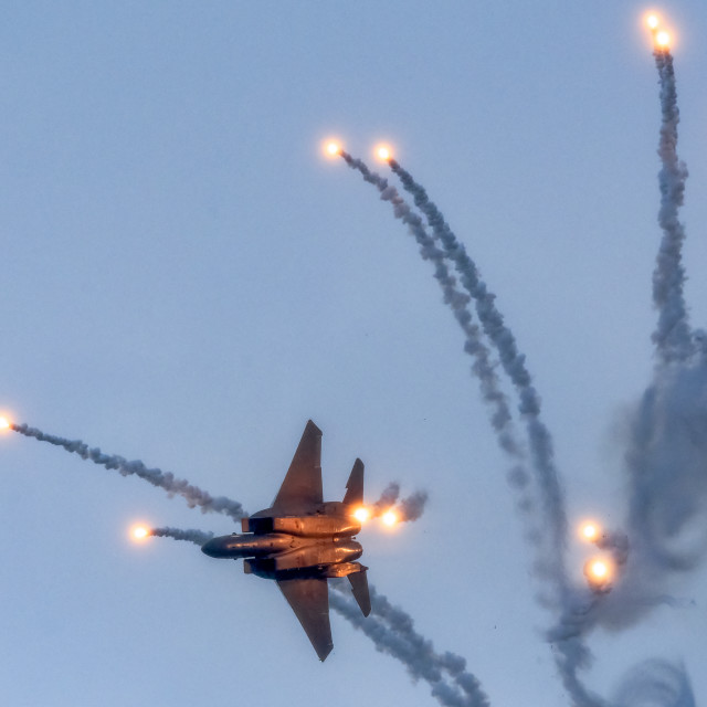 """""""F15SG Flares Release Performance 01"""" stock image"""