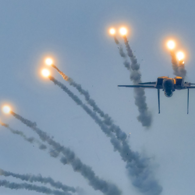 """""""F15SG Flares Release Performance 02"""" stock image"""