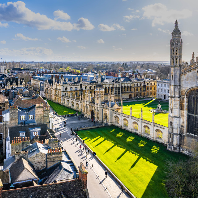 """King's College, University of Cambridge UK."" stock image"