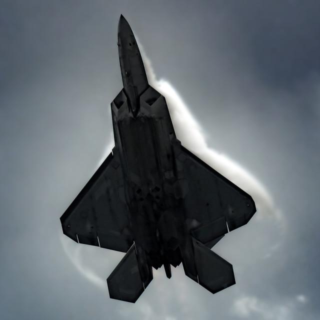 """""""F22 Vapour trails"""" stock image"""