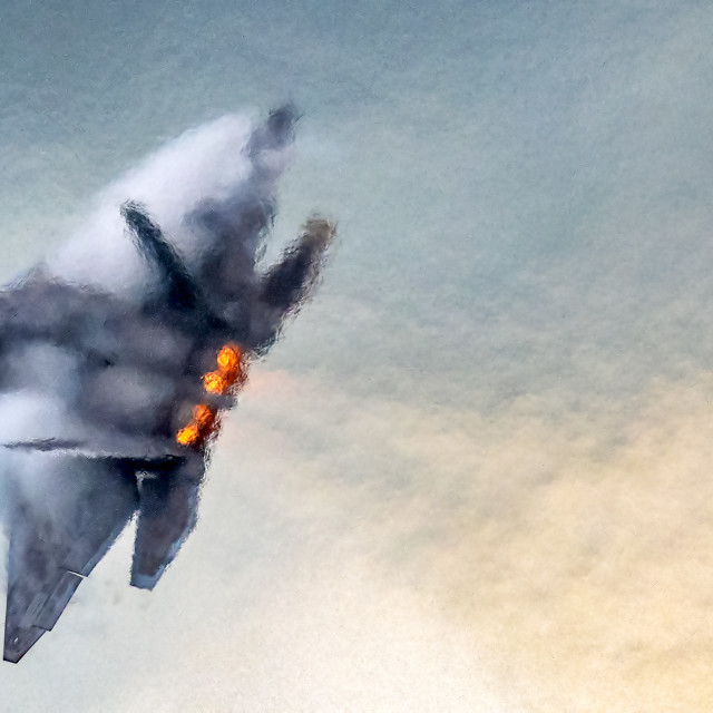 """F-22 Raptor Air Turbulence"" stock image"