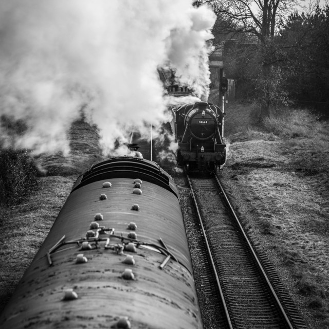 """""""LMS 8F and Standard 5"""" stock image"""
