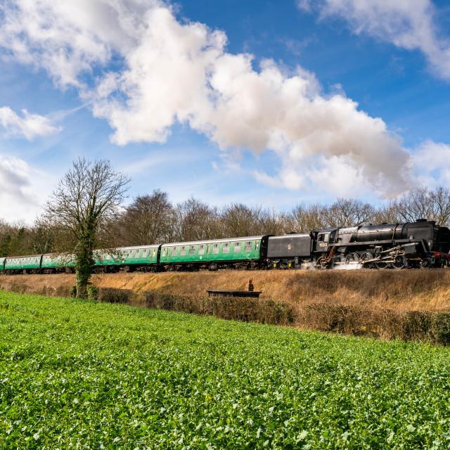 """British Railways 9F"" stock image"