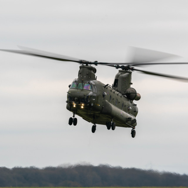 """RAF Chinook"" stock image"