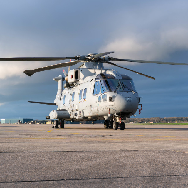 """Royal Navy Merlin"" stock image"