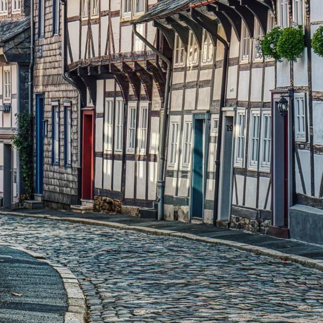 """Old Village Street"" stock image"