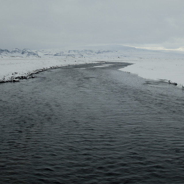 """ICELANDIC RIVER"" stock image"