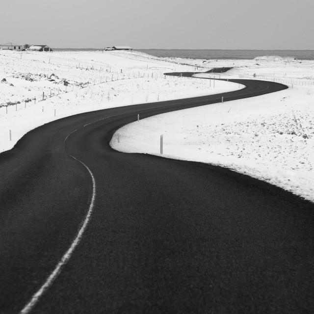 """ICELANDIC ROAD."" stock image"