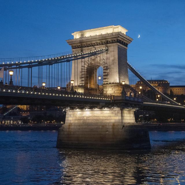 """""""Freedom Bridge Budapest (III)"""" stock image"""