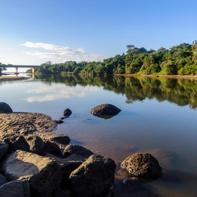 """River and Bridge"" stock image"
