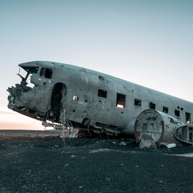 """The Abandoned DC Plane"" stock image"