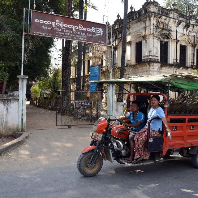 """""""Myanmar Tuk-Tuk"""" stock image"""