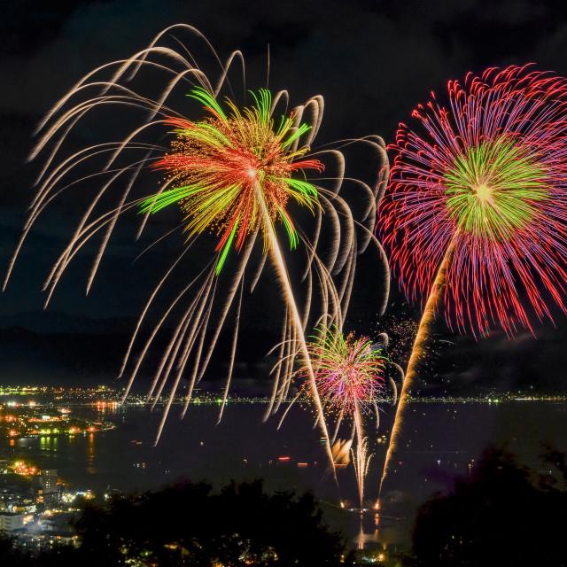 """Lake Suwa Hanabi Festival 02"" stock image"