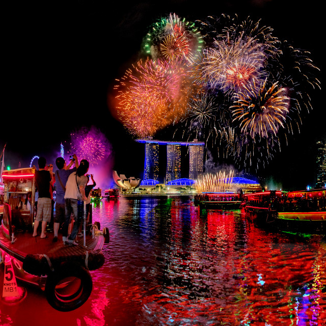"""""""2020 New Year Countdown Fireworks"""" stock image"""