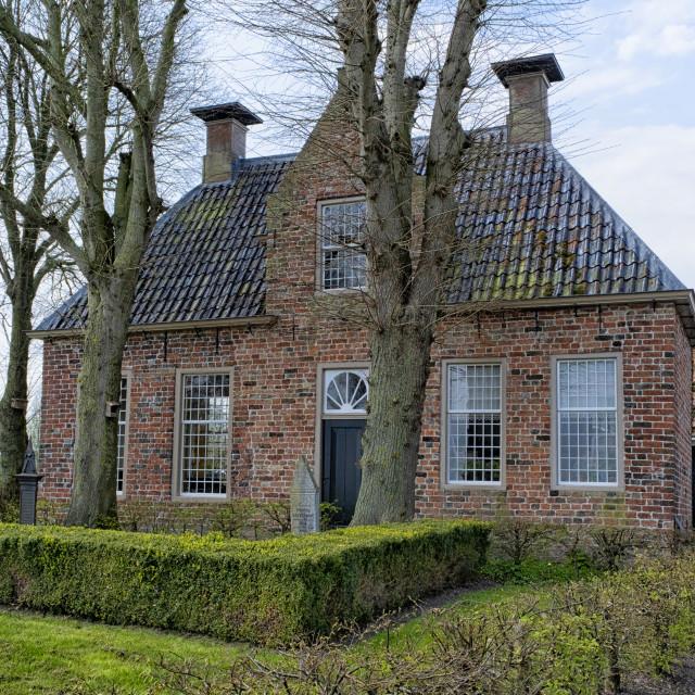 """""""Medieval vicary in Groot Wetsinge"""" stock image"""