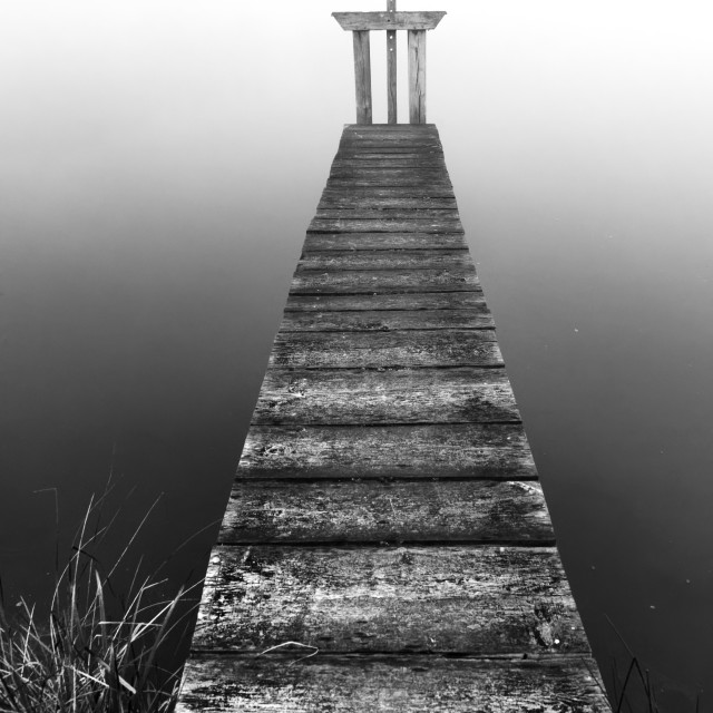 """""""Wooden jetty"""" stock image"""