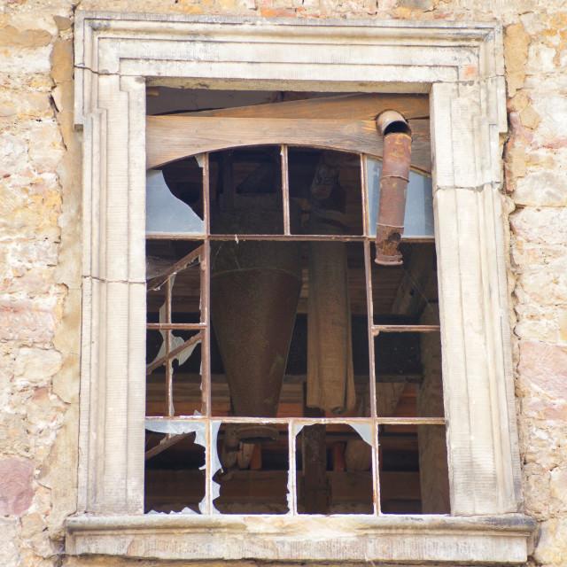 """""""Broken window"""" stock image"""