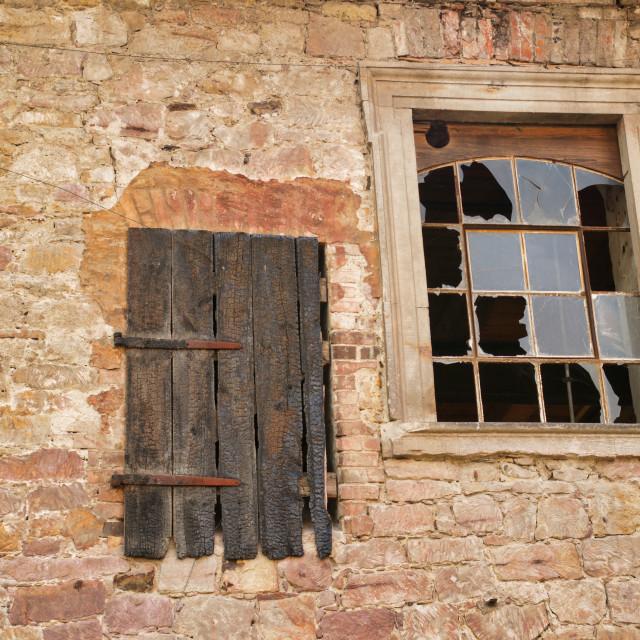 """""""Broken window 2"""" stock image"""