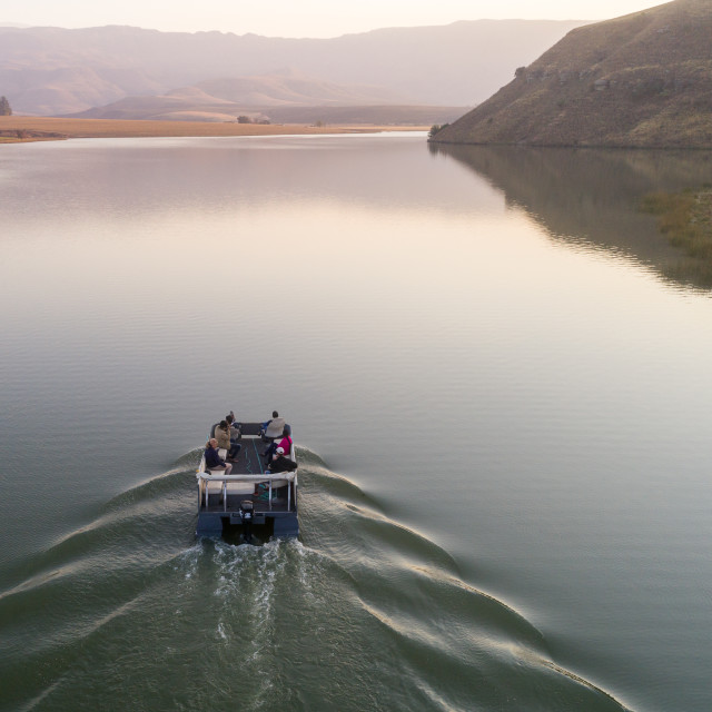 """Boat on dam"" stock image"