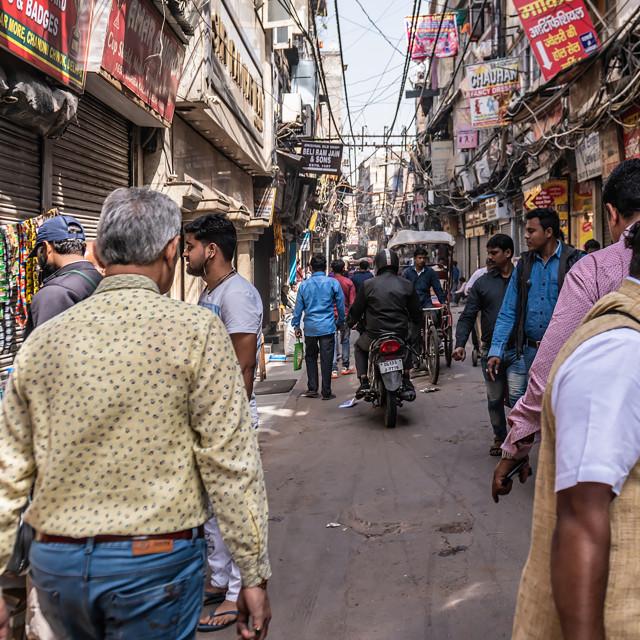 """""""Delhi street scene"""" stock image"""