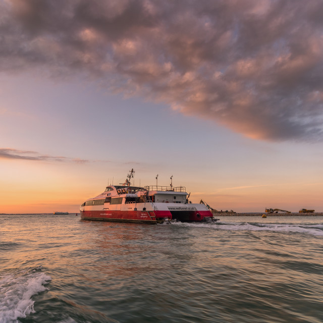 """""""Red Funnel"""" stock image"""