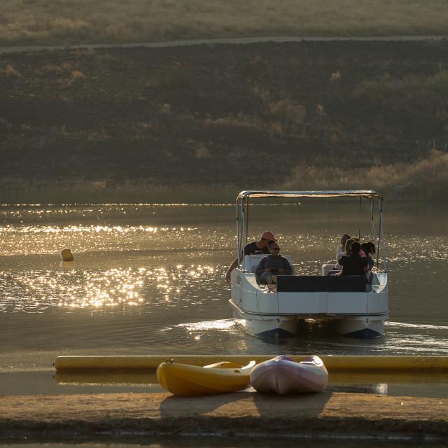 """""""Sunset Cruise"""" stock image"""