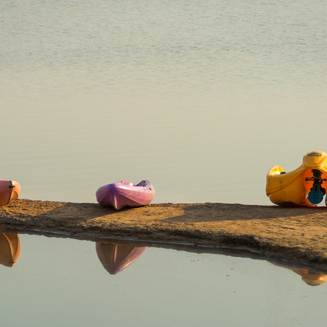 """""""Paddle Boat and canoes"""" stock image"""