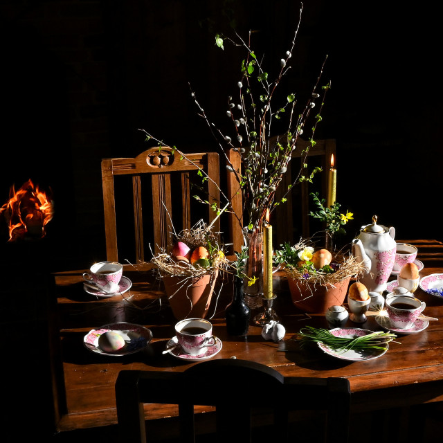 """""""Dinner table"""" stock image"""
