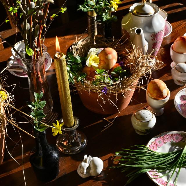 """""""Easter dinner"""" stock image"""