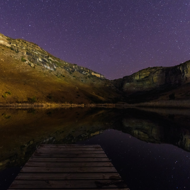 """""""Starry reflection"""" stock image"""
