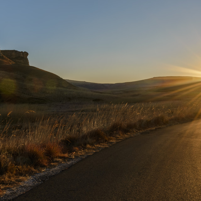 """""""Road to the sun"""" stock image"""