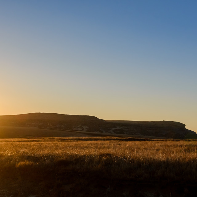 """""""Sunrise over the hill"""" stock image"""