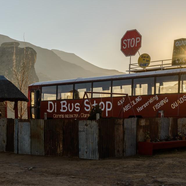 """""""Di Bus Stop"""" stock image"""