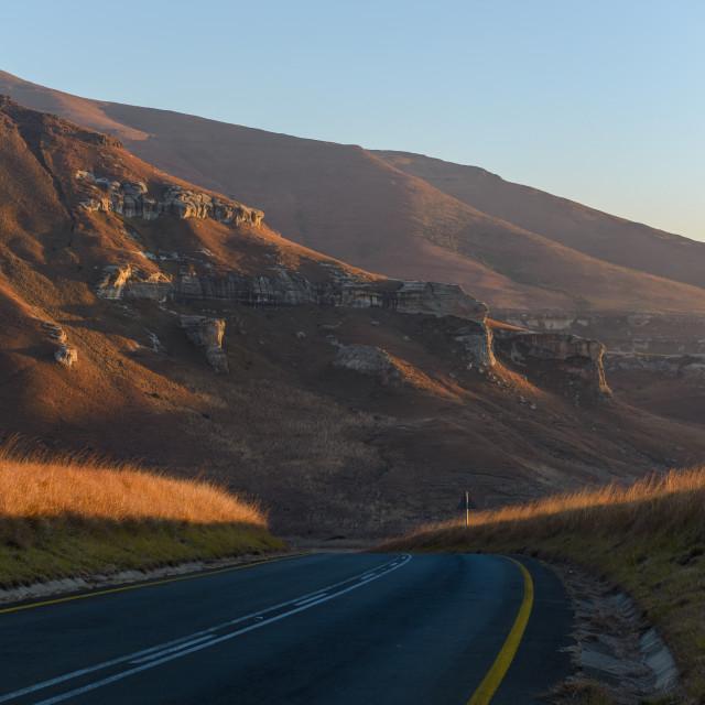 """Road through the mountains"" stock image"