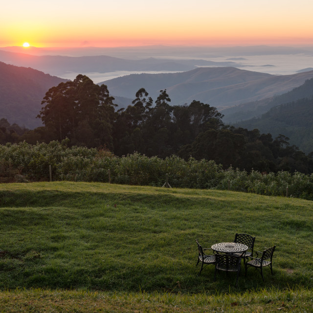 """""""Table with a View"""" stock image"""