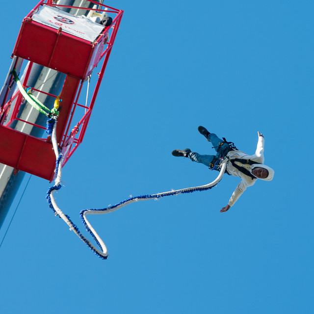 """Bungee jump off crane"" stock image"