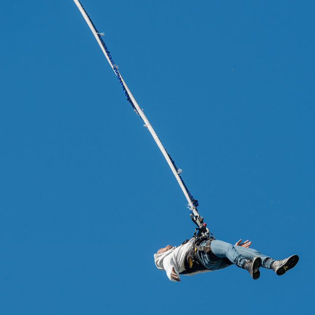 """""""Bungee jumper"""" stock image"""