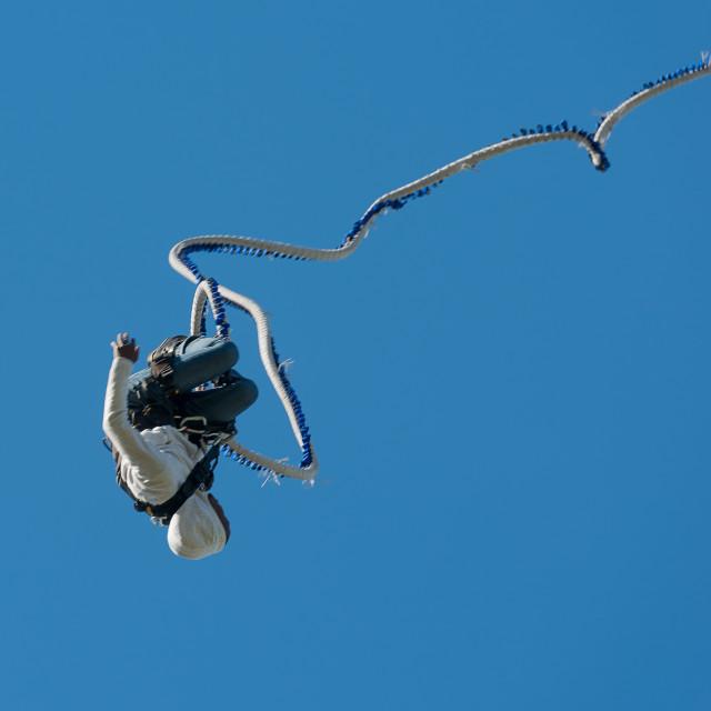 """Bungee jumping"" stock image"
