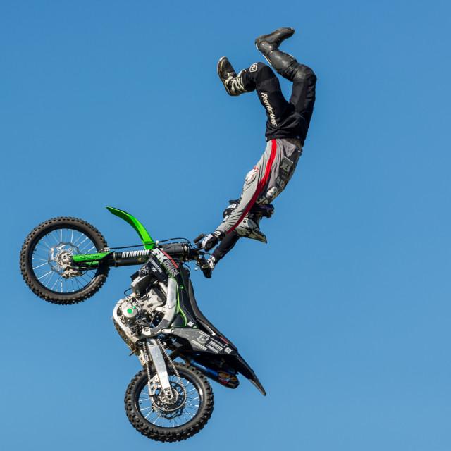 """Freestyle Motor Cross Stunt"" stock image"