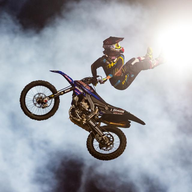 """Freestyle Motor Cross Light Kick"" stock image"