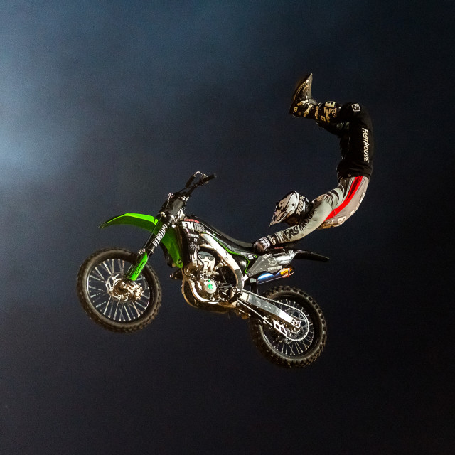 """Freestyle Motor Cross superman"" stock image"