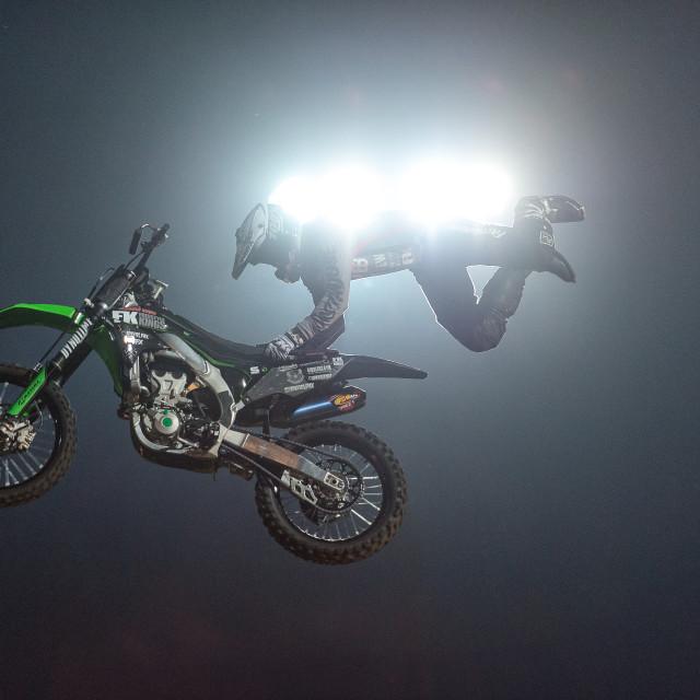 """Freestyle Motor Cross spotlights"" stock image"